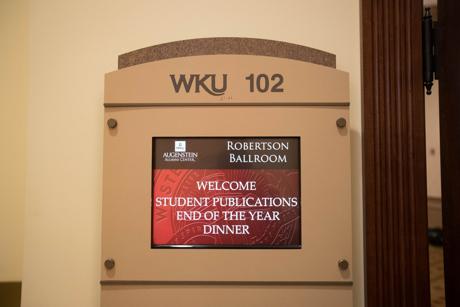 western kentucky university student publications dinner