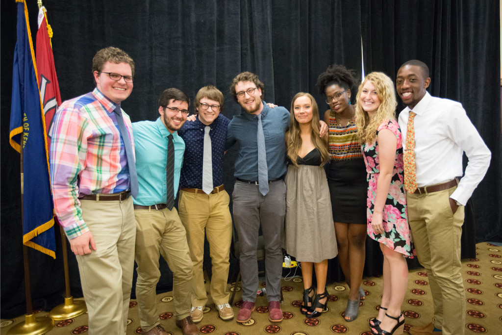 Scholarship winners at the Spring 2015 Student Publications End of the Year Dinner at the Augenstein Alumni Center on May 8th, 2014.