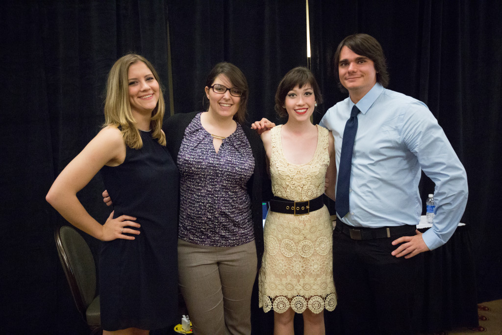 Fellowship winners at the Spring 2015 Student Publications End of the Year Dinner at the Augenstein Alumni Center on May 8th, 2014.