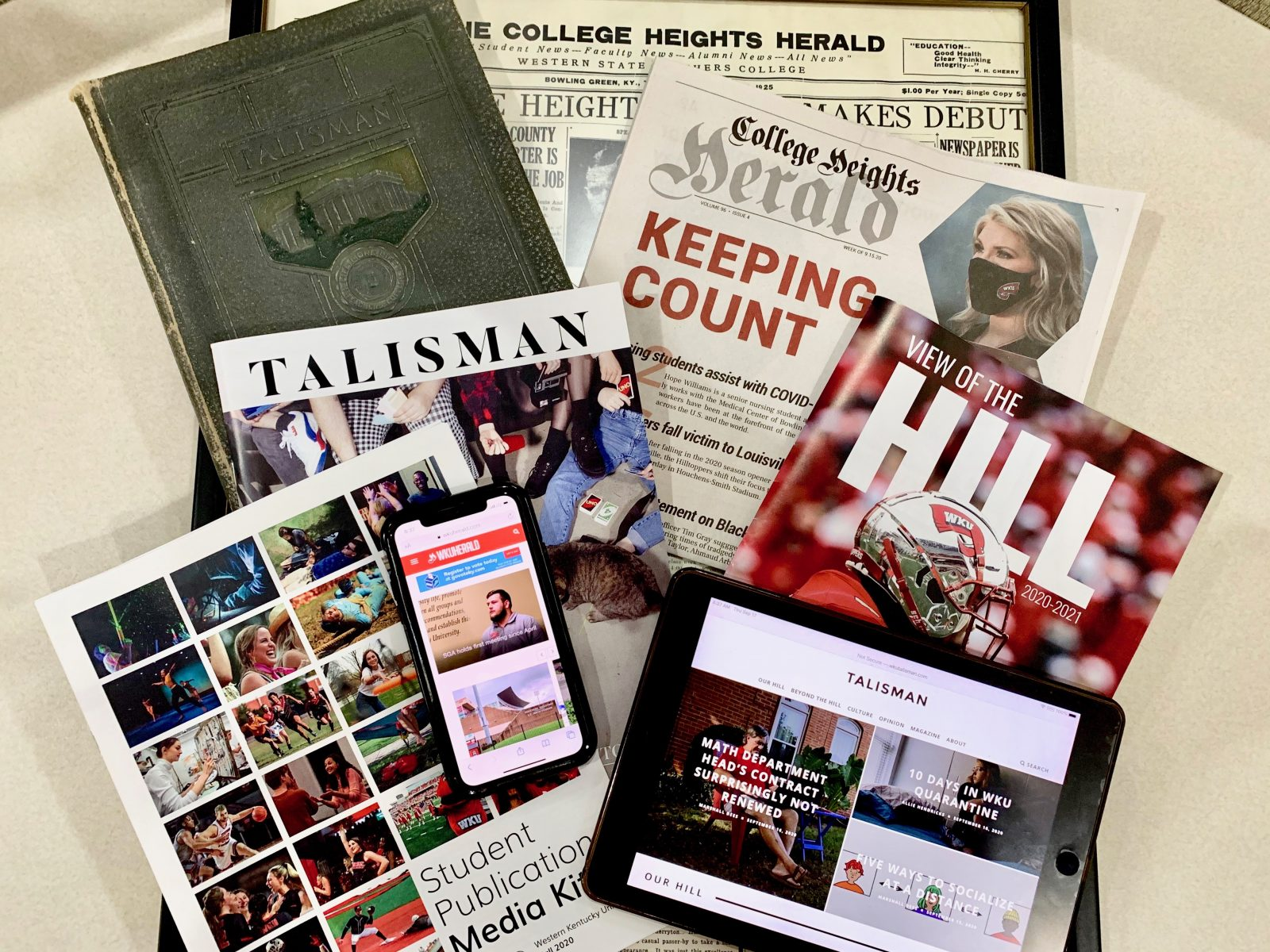 The College Heights Herald and the Talisman reach back to 1925 and 1925 respectively but have evolved with technology